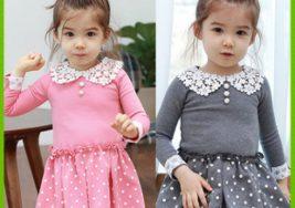 Chọn quần áo thu đông cho bé gái cực xinh
