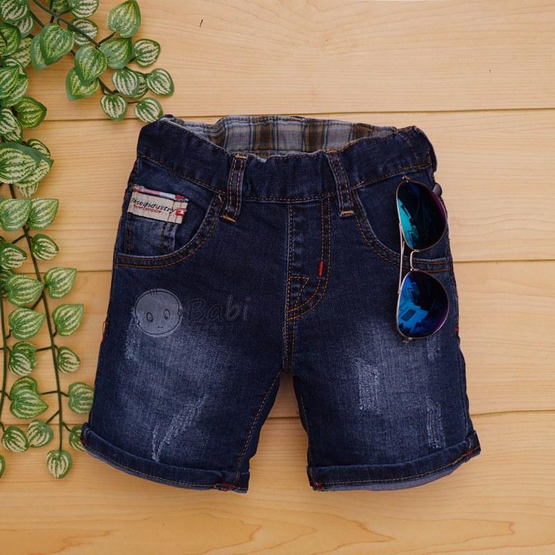 Quần jeans lửng bé trai wash nhẹ chất đẹp