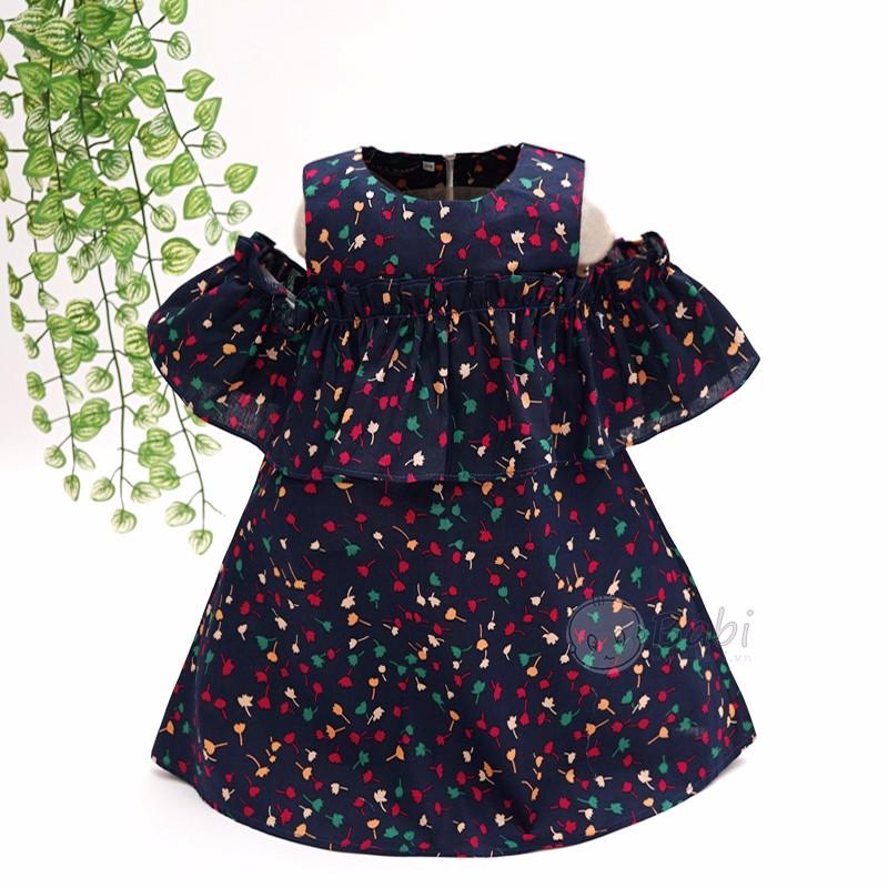 Đầm suông chữ A trễ vai đẹp cho bé gái (1-12 tuổi)