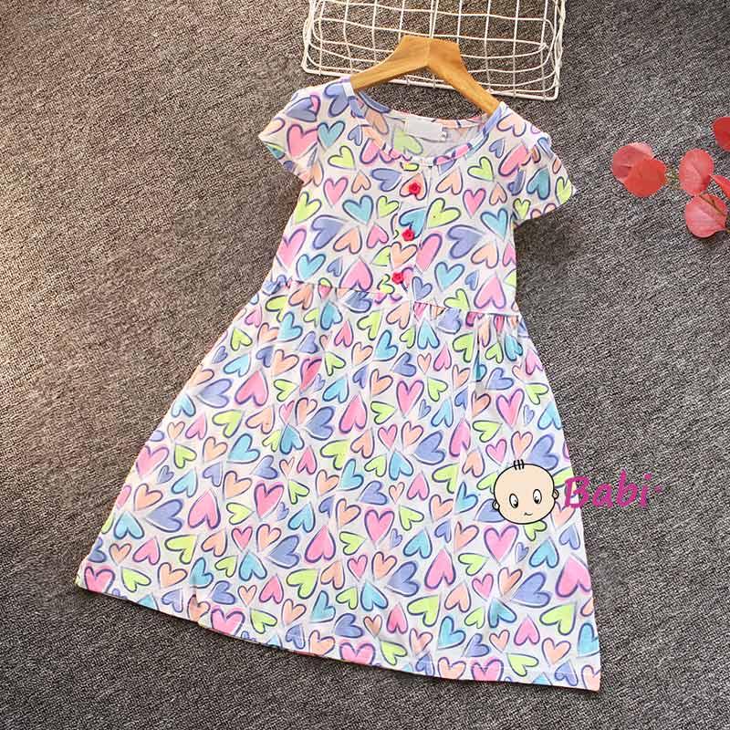 Đầm Tay Cánh Tiên Cho Bé Gái Nhiều Họa Tiết Dễ Thương Giá Rẻ Size Đại - 5