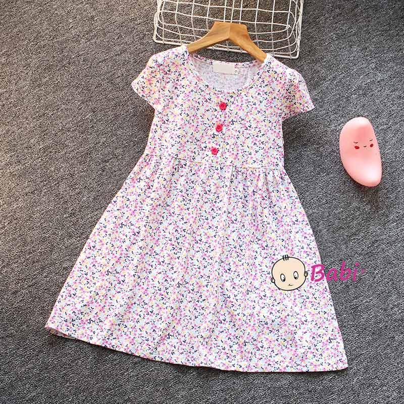 Đầm Tay Cánh Tiên Cho Bé Gái Nhiều Họa Tiết Dễ Thương Giá Rẻ Size Đại - 6