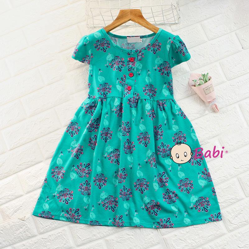 Đầm Tay Cánh Tiên Cho Bé Gái Nhiều Họa Tiết Dễ Thương Giá Rẻ Size Đại - 3