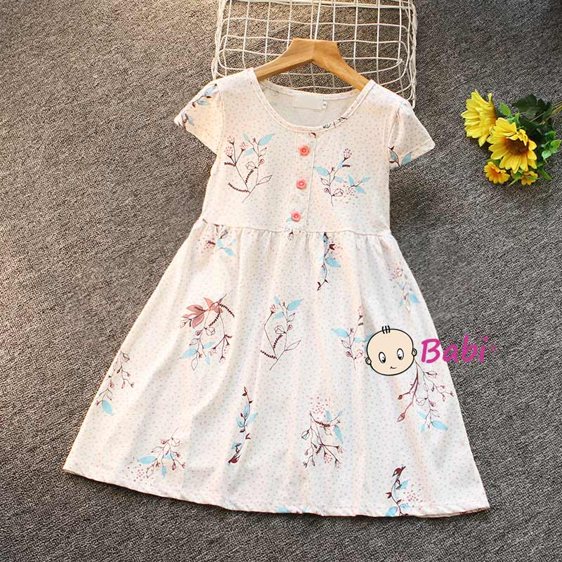 Đầm Tay Cánh Tiên Cho Bé Gái Nhiều Họa Tiết Dễ Thương Giá Rẻ Size Đại - 8