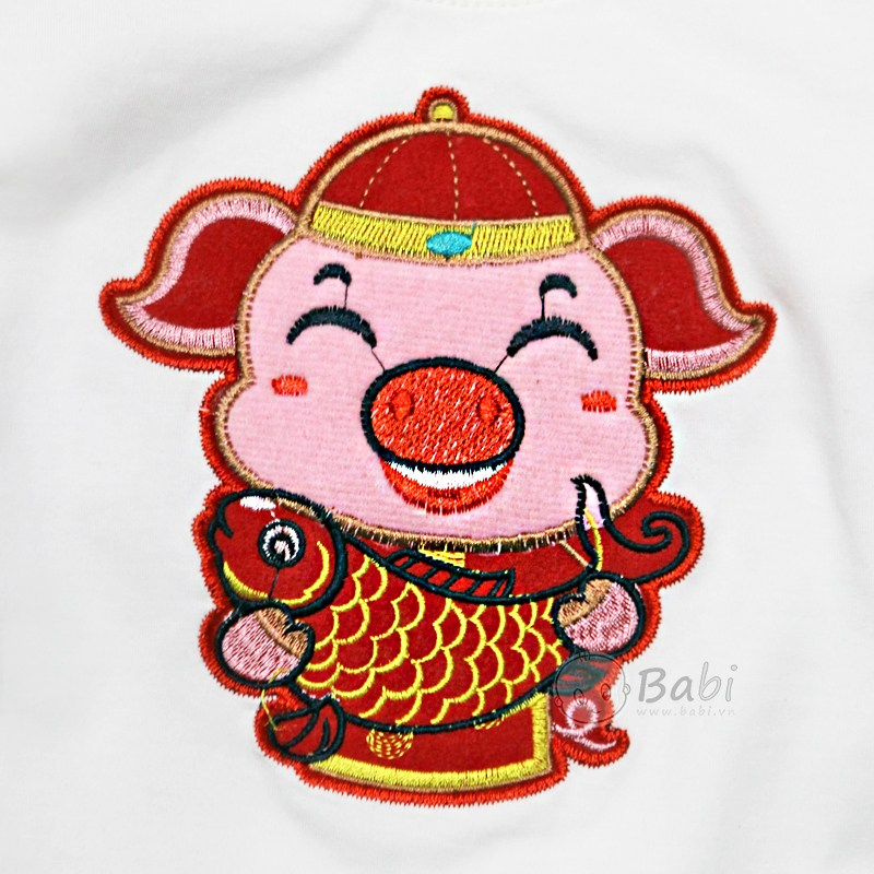 Ao Thun Be Gai 110 Tuoi Theu Heo Than Tai May Man