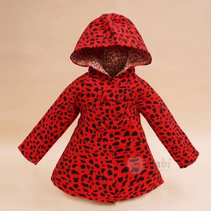 Áo khoác cho bé gái dáng dài 2 nút ngang thời trang