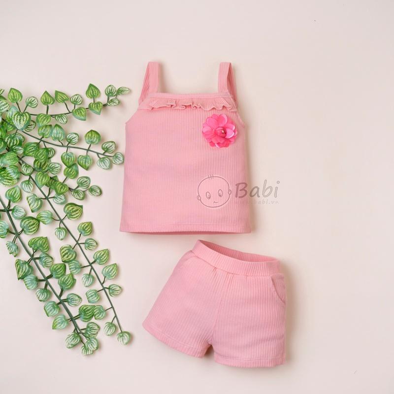 Bộ 2 dây cho bé gái nhún bèo đính bông cực dễ thương Bo-be-gai-2-day-nhun-beo-va-dinh-bong-cuc-de-thuong%20(2)