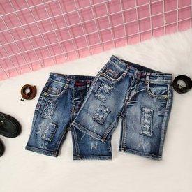 Quan jeans cho be trai 1 tuoi - 7 tuoi kem day nit wash nhe theu dap