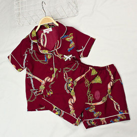 Bo Pyjama Cho Be Gai Tay Ngan Quan Ngan Hoa Tiet Buom Xinh ( 2 - 11 tuoi)