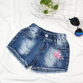 Quan Jeans Cho Be Gai Theu Hoa (1-9 tuoi)