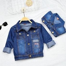 Ao Khoac Jeans Cho Be Wash Nhe mix Tui (1 - 5 tuoi)
