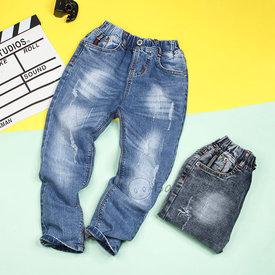 Quan Jeans Dai Lung Thun Cho Be Trai Wax Nhe Thoi Trang Size Dai (4 - 8 Tuoi)