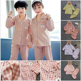 Bo Pyjama Cho Be Tay Dai Quan Dai Mix Soc Tui Nho In Gau  (2 - 11 tuoi)