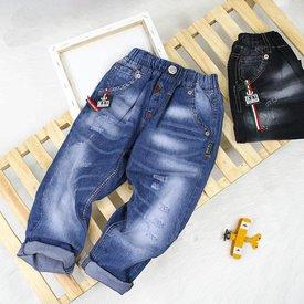 Quan Jeans Dai Lung Thun Cho Be Trai Wax Nhe Mix Khoa Thoi Trang Size Dai (6 - 10 Tuoi)