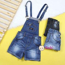 Yem Short Jeans Cho Be Gai Mix Tui Sanh Dieu (3 - 7 tuoi)