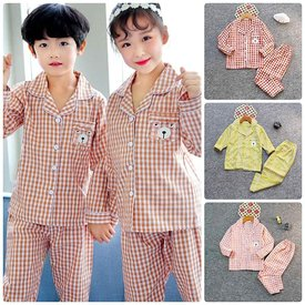 Pijama Tre Em Tay Dai Quan Dai Mix Soc Tui Nho In Gau  (2 - 10 tuoi)