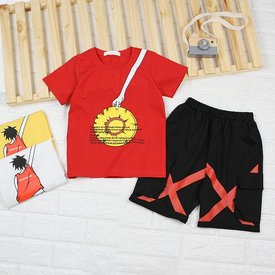Bo Be Trai Tay Ngan Quan Lung Tui Hop In Hinh Chu Be Size Dai Co (40kg - 52kg)