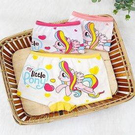 Set 3 Quan Chip Dui Cotton Cho Be Gai In Hoa Tiet Dang Yeu (4 - 8 tuoi)