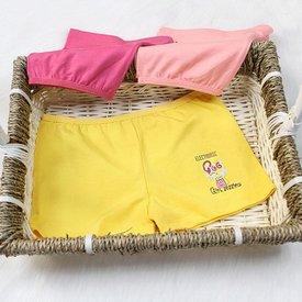 Set 3 Quan Chip Dui Cotton Mau Tron In Hoa Tiet Dang Yeu (4 - 8 tuoi)