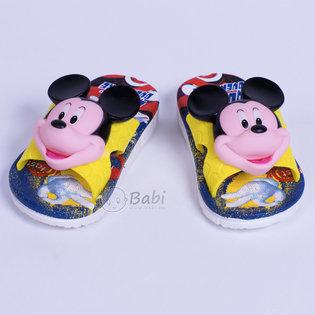 Dep nhua cho be hinh Mickey (mau vang)