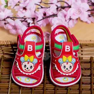Giay sandal chu B cho be