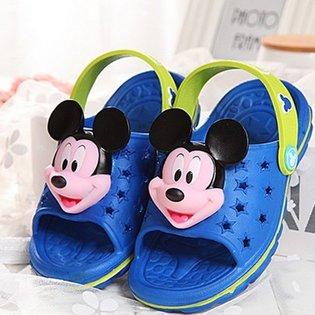 Dep nhua crocs in noi Mickey cho be trai