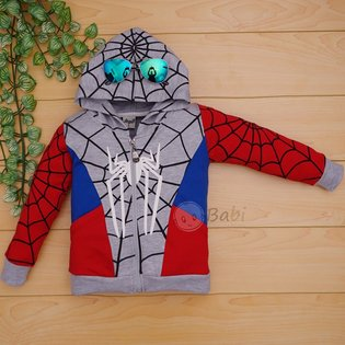 Ao khoac be trai in hinh Spiderman dep re