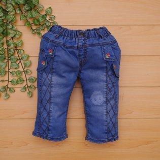 Quan jeans be gai theu hoa thoi trang