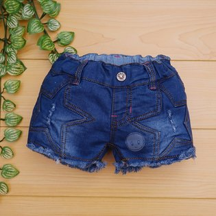 Quan short jeans be gai theu hinh sao (9 thang - 9 tuoi)