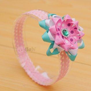 Bang do cho be yeu dinh hat hoa cham bi (san pham handmade)