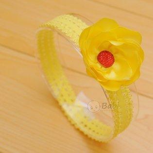 Bang do handmade dinh hat hoa nhieu canh cho be gai