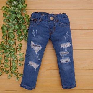 Quan jeans dai PSB rach wash nhe cho be trai