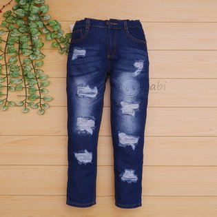 Quan jeans dai wax rach cho be trai size dai (7-13 tuoi)