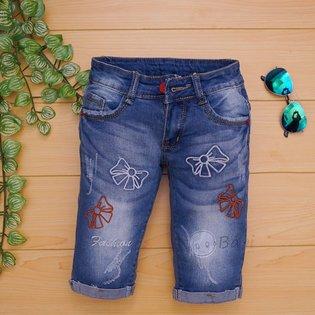 Quan jeans lung be gai theu no cuc xinh