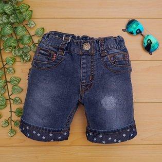 Quan jeans PSB short lat lai hinh sao cho be trai 3-8 tuoi