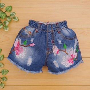 Quan short jeans theu hoa cho be gai (9 thang - 13 tuoi)
