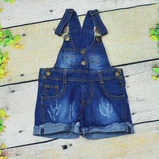 Yem jeans be gai dinh nut thoi trang (6 thang - 3 tuoi)