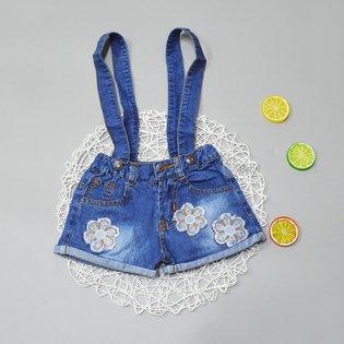 Yem jeans be gai theu hoa xinh xan (1-6 tuoi)