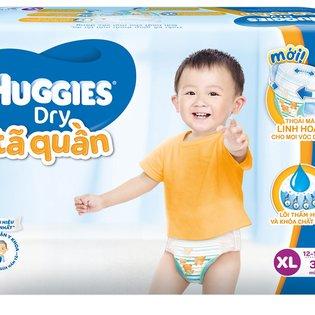 Ta (bim) quan Huggies sieu tham chong tran size XL- 32mieng (cho tre 12 - 17kg)