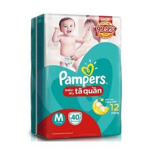 Ta (bim) quan Pampers size M - 40 mieng ( tu 7 - 12kg)