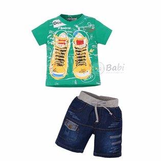 Thoi trang be trai ao thun quan jeans phong cach the thao