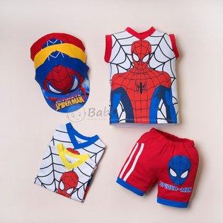 Do bo be trai in hinh Spiderman kem non