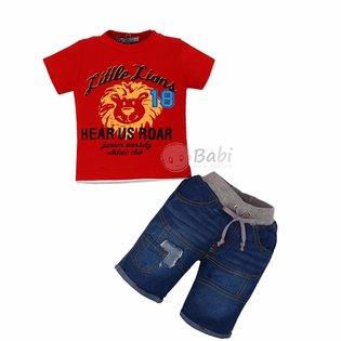 Bo do di tiec cho be trai ao thun phoi quan jeans