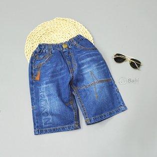 Quan jeans dui BJK cho be trai in chu Newyork (Size dai)