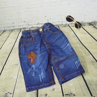 Quan jeans lung be trai chu A wash nhe size dai