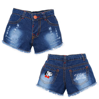 Quan Short Jeans Be Gai Theu Cun Tui Sau Wash Nhe