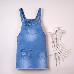 Dam yem jeans phoi tui sanh dieu cho be gai (5-11 tuoi)