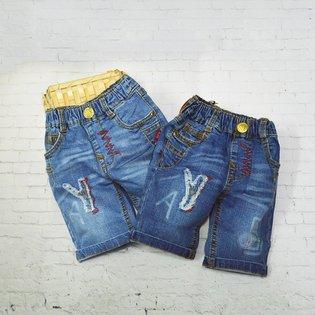 Quan jeans lung BJK theu chu Y cho be trai