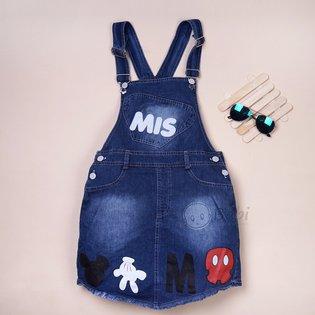 Vay yem jeans cho be gai in hinh ngo nghinh (size dai)