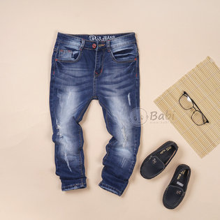 Quan jeans dai size dai cho be trai wash nhe (5-9 tuoi)