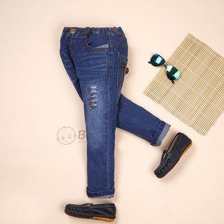 Quan jeans dai BJK wash nhe cho be trai